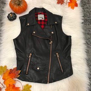 LEVIS faux leather vest